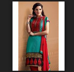 Embroidered Party wear Silk Salwar Suit Material