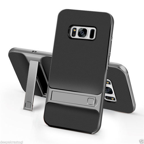 brand new 834b7 0da3e Dual Hybrid Back Cover With Stand For Samsung Galaxy S8