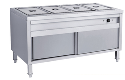 Stainless Steel Hot Bain Marie Four Container -Standing