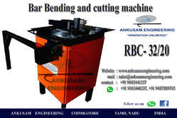 Orange ANKUSAM COMBINED BAR BENDING AND CUTTING MACHINE, RBC 32/20