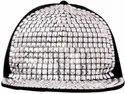 Silver Acrylic Hip Hop Cap