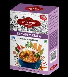 Spice Park Branded Spices :- Biryani Masala, Packaging Size: 100 g, Packaging Type: Packets