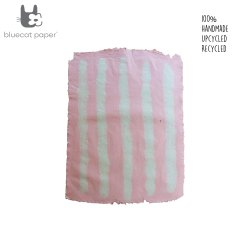 Hand design Gift wrapping paper - pink with white lines