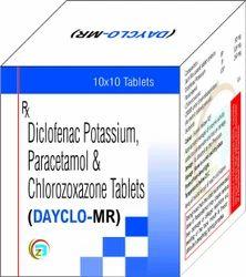 Diclofenac Sodium, Paracetamol Chlorzoxazone Tablets