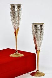 Silver Plated Wine Goblet Set