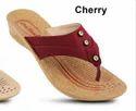 Pu On Star Ladies Cherry Designer Slipper, Size: 5x9, Packaging Type: Box