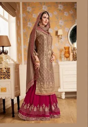 1959d91002a4 New Designer Party Ware Bridal Anarkali Salwar Suit Kameez Georgette  Embroidery