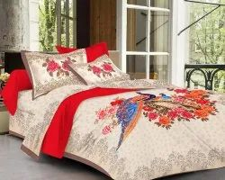Peacock Bedsheet for Double Bed
