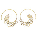 Dazzling Dashing Everyday Forever Cutie Brass Gold Plated Hoop Earring