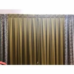Brown Cotton Plain Curtain, For Window