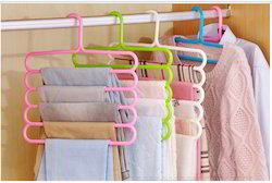 HomeJoy Multicolor 5 Slot Hanger, For Hanging Clothes, Size: Size (33 X 33 X 1 Cm)