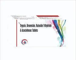 Trypsin, Bromelain & Rutoside Trihydrate Tablets