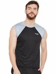 Black & Grey Polyester Sleeveless - Black And Grey