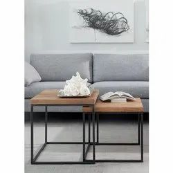 Eazy Fab Metal & Wood Side Table, for Home