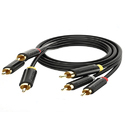 3 RCA Male To 3rca Male AV Cable 1.5 Meter