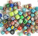Multi Colored Assorted Chevron Glass Beads Ideal For Jewerly Designers And Bead Stores