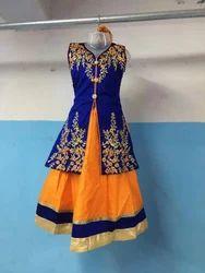Female Blue Baby Girl Designer Dress