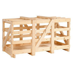 Rectangular, Square Industrial Wooden Crate