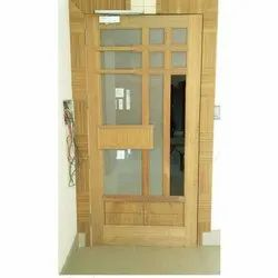 Polished Brown Wooden Designer Door