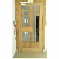 Polished Brown Wooden Designer Door