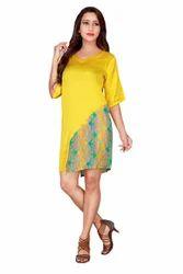 Satin Printed Tunic Dress