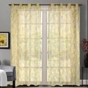 52 x 90 inch Mineral Yellow Floral Rose Sheer Curtain