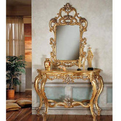 Carved Console Table And Mirror