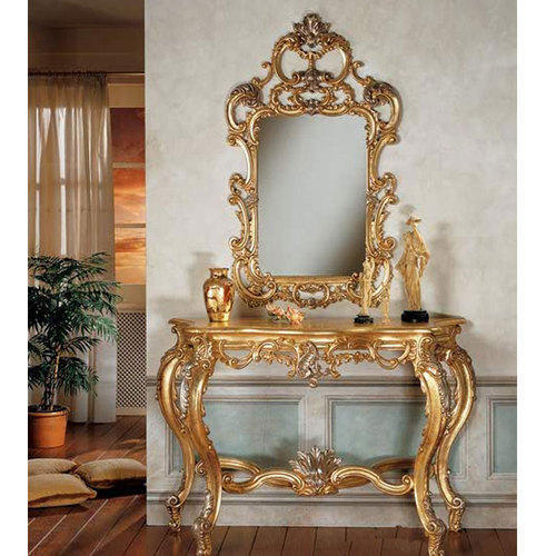 Carved Console Table And Mirror At Rs 40000 Set