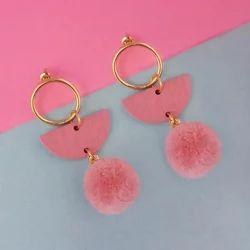 Multicolor Wood Dangler Earrings
