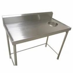 Soiled Dish Landing Table with Chute