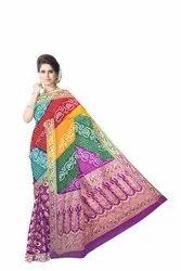 All Over Multi Color Banarasi Georgette Saree