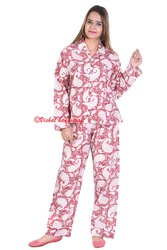 Hand Block Printed Night Suit Pajama Shirt
