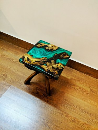 Sidetable 25 Cm.Epoxy Resin Side Table