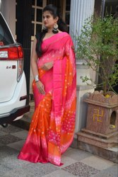 Party Wear Kota Print Saree, Length: 6.3 m (with Blouse Piece)
