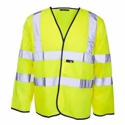 Polyester Full Sleeves High Visibility Jacket for Construction