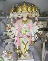 Multicolor White Stone Panchmukhi Hanuman Ji Statue, Size: 3.5 Foot