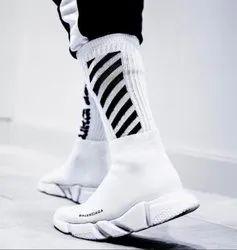 High Ankle Men Balenciaga Shoes, Size: 7-10