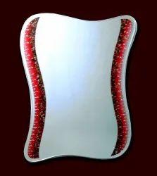 Multicolor Polished Stone Designer Mirror, Shape: Square