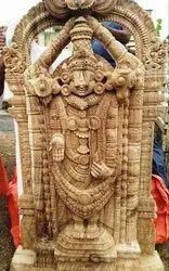 Wooden Tirupati Balaji Statue