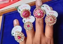 925 Sterling Silver Kundan Finger Rings