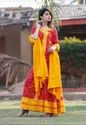 Long Printed Kurti Gown With Dupatta