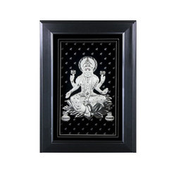 Silver Laxmi Photo Frame withled Light