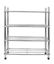 Stainless Steel Shoe Rack, Size: 44 x 22.5 x 67.5 cm