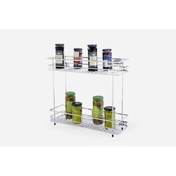 Silver Two Shelf Pullout