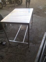 Stainless Steel Polished SS Work Tables, For Industrial