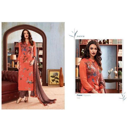 Ladies Cotton Casual Wear Printed Suit