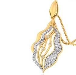 CDL FINESHINE Real Diamonds Real Diamond 14k Gold Pendant, 4.5 Grams, Packaging Type: Box