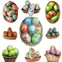 Hand Painted Paper Mache Easter Egg Custom Sized Easter Egg