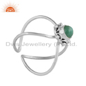 Natural Emerald Sterling Silver Gemstone Ring