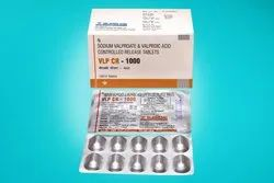 Sodium Valproate and Valproic Acid Controlled Release Tablets 1000 mg
